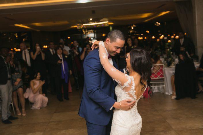bride and groom dance at Gold Coast wedding reception