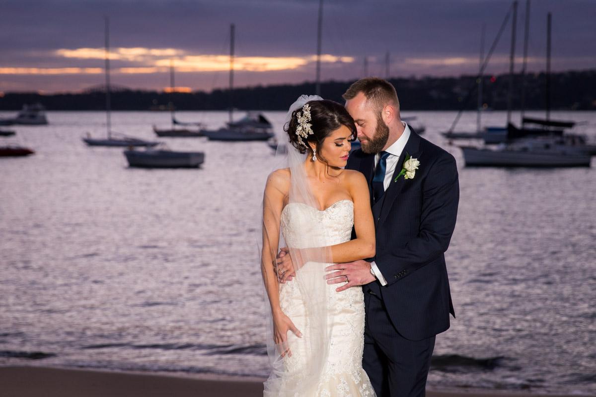 Dunbar House night wedding photograph of bride and groom photoshoot