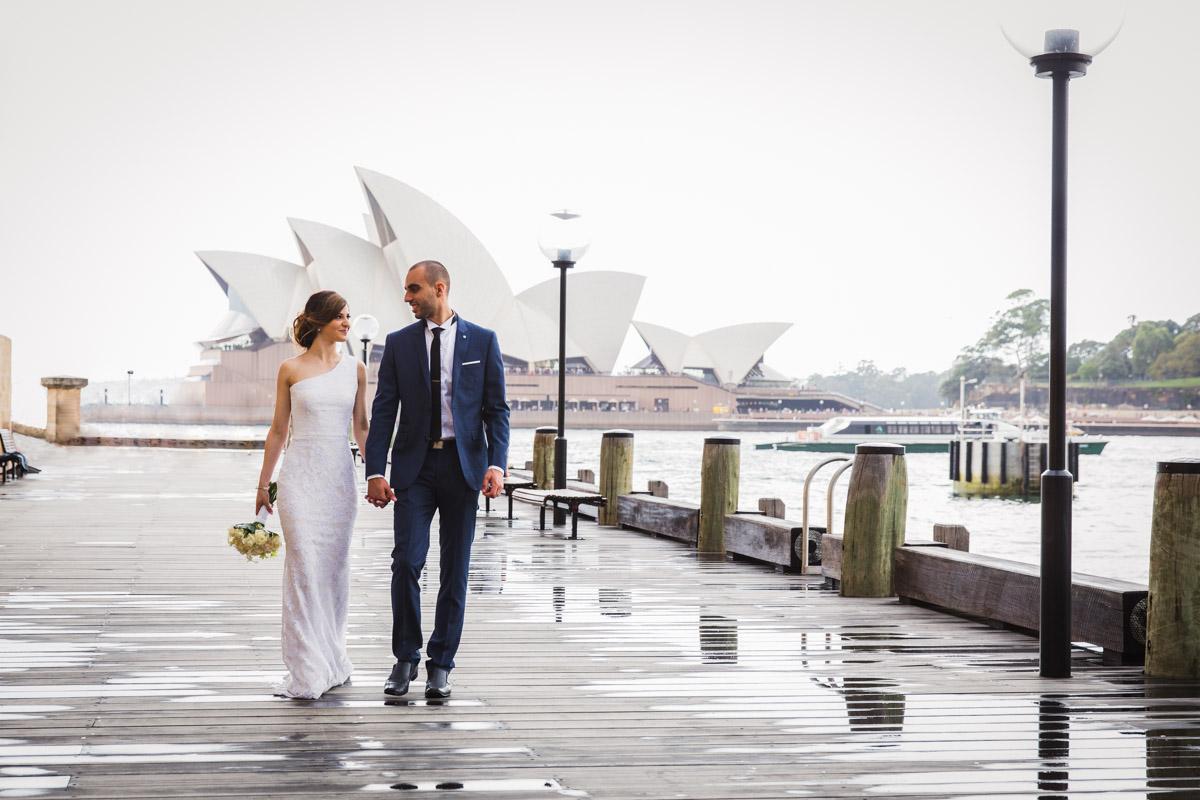 wedding photograph outside Opera House Sydney