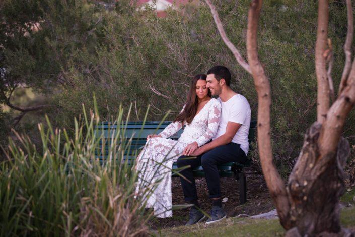 romantic wedding photograph