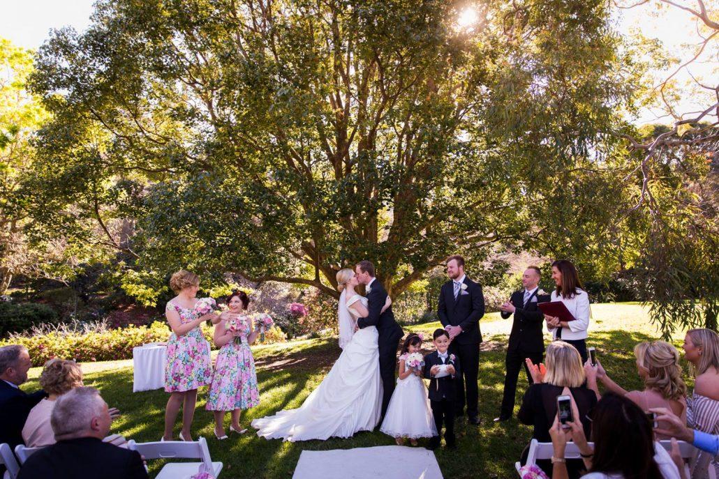 Garden wedding in Byron Bay