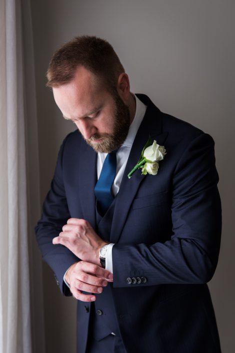 groom preparation at Dunbar House