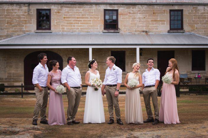 bridal party photo in brisbane