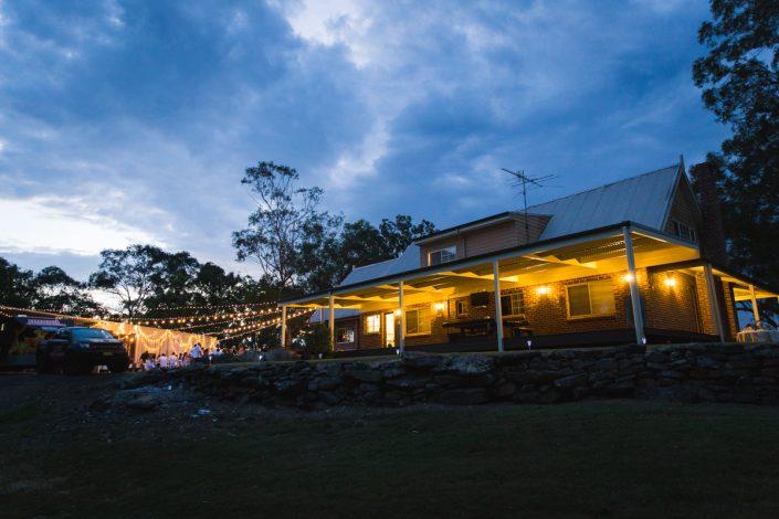 night time reception in brisbane