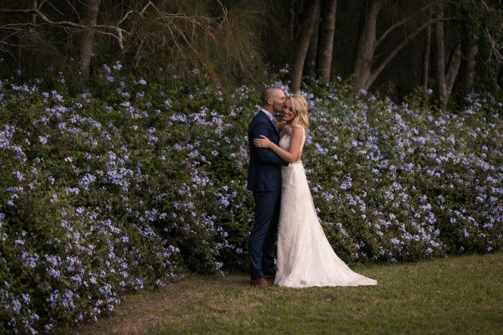 creative wedding portrait of husband and wife