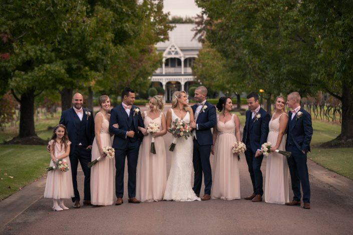 bridal party photograph at wedding