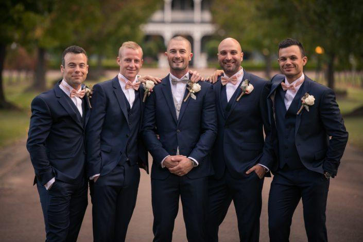 photo of groomsmen at wedding