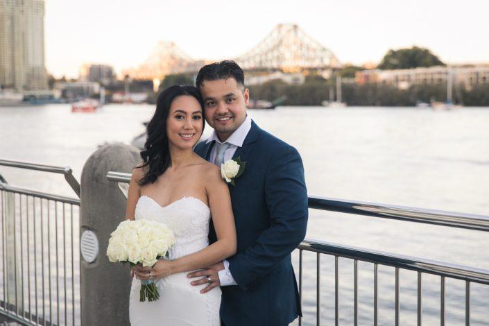 Brisbane river wedding photography