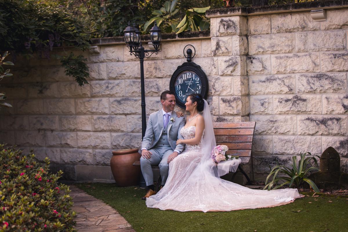 husband and wife sitting
