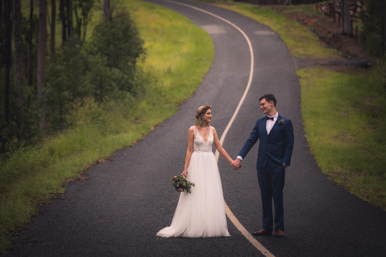 artistic wedding photo of husband and wife