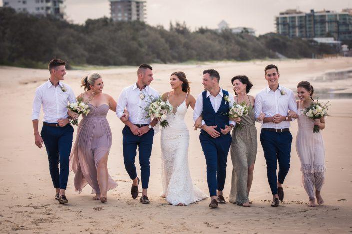 fun photo of wedding party