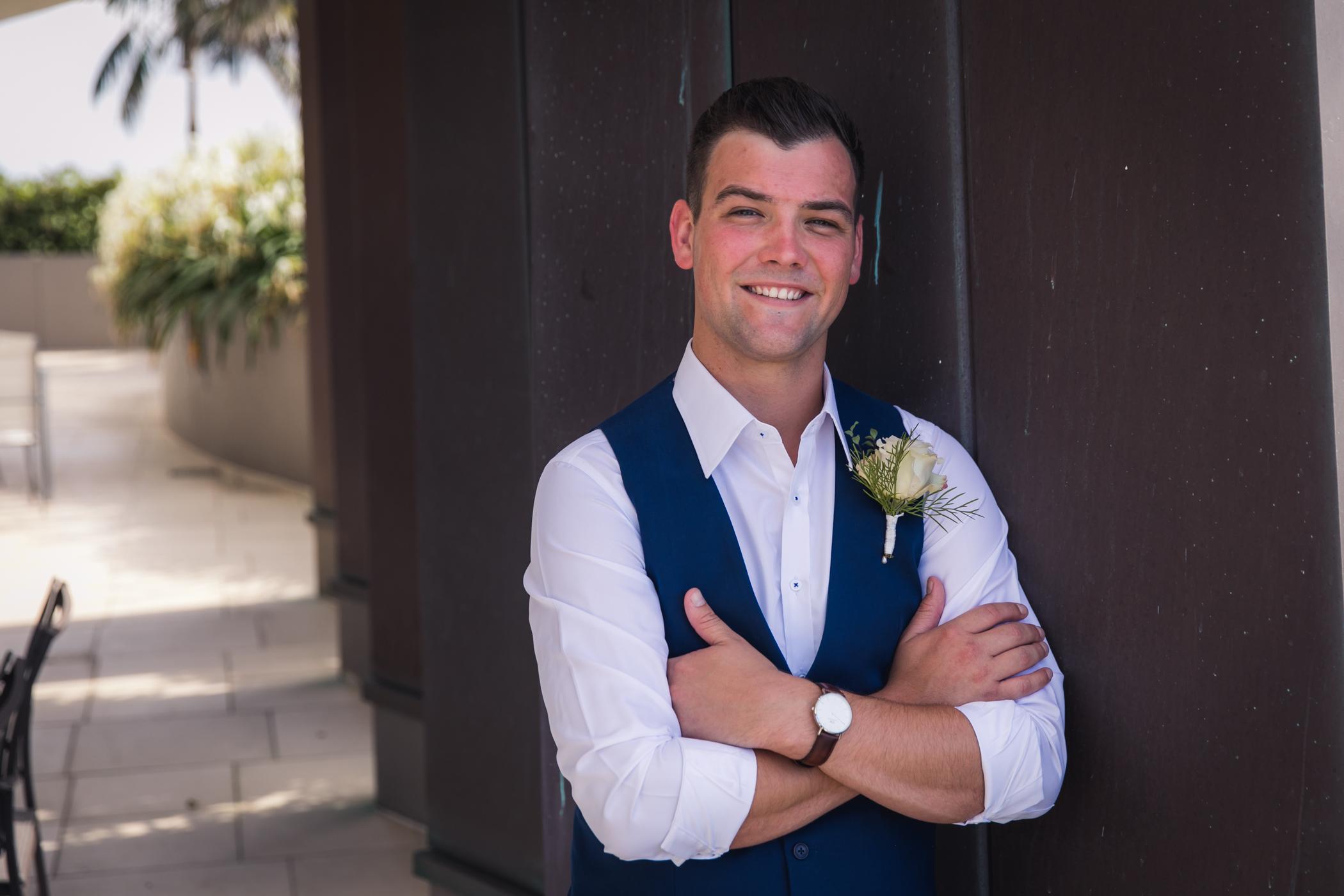 portrait of groom before his wedding
