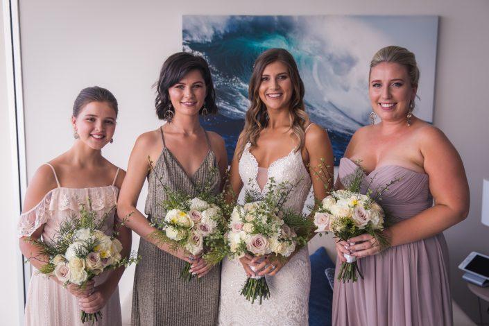 group shot of bridesmaids