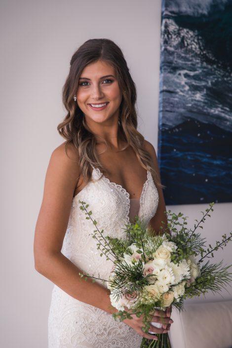 portrait of bride before wedding day