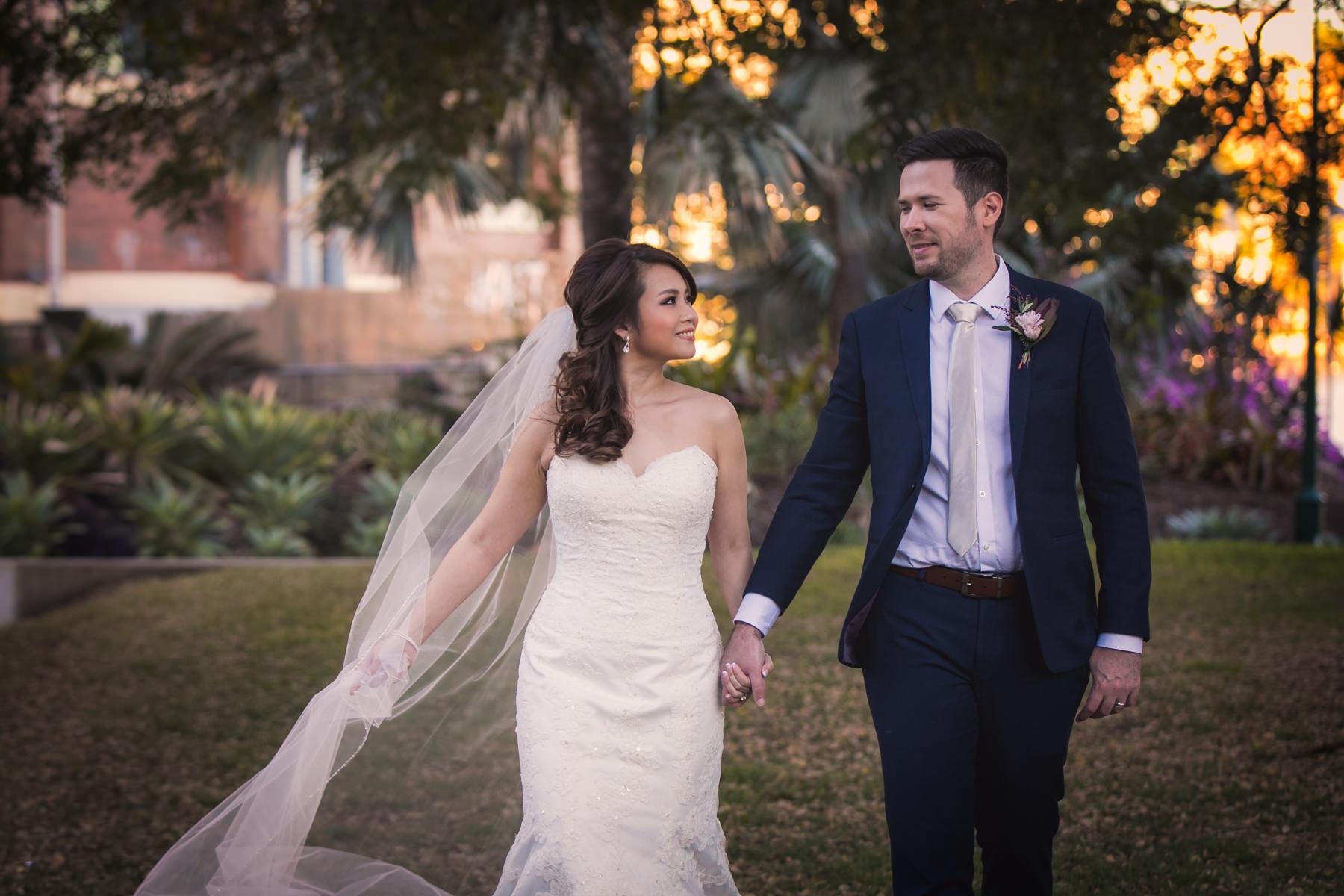 glamour pose wedding photo