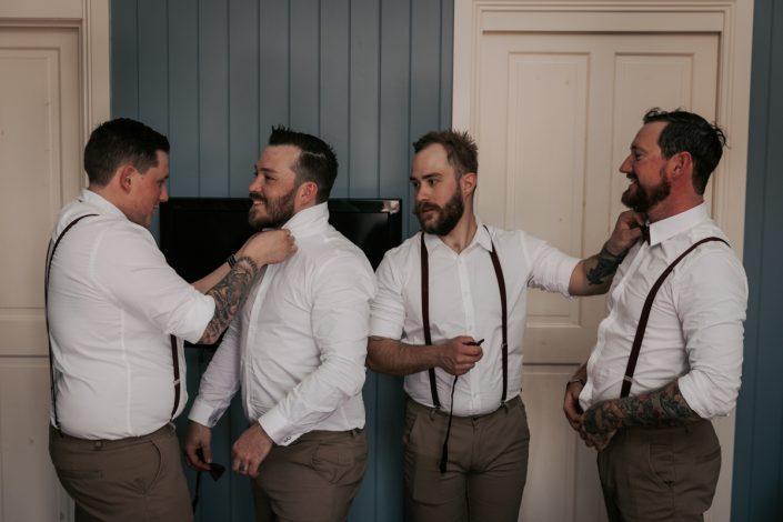 Groom Prep in Brisbane wedding