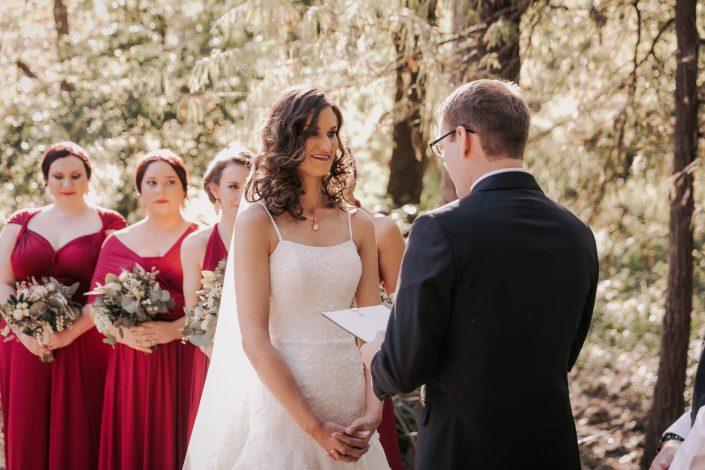 Vows at wedding
