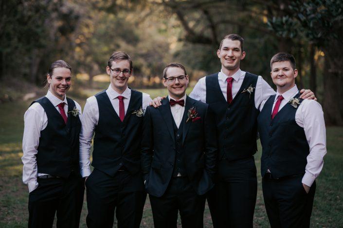 groomsmen at Brisbane wedding