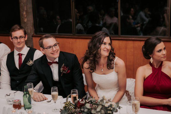 bride moment during wedding speech