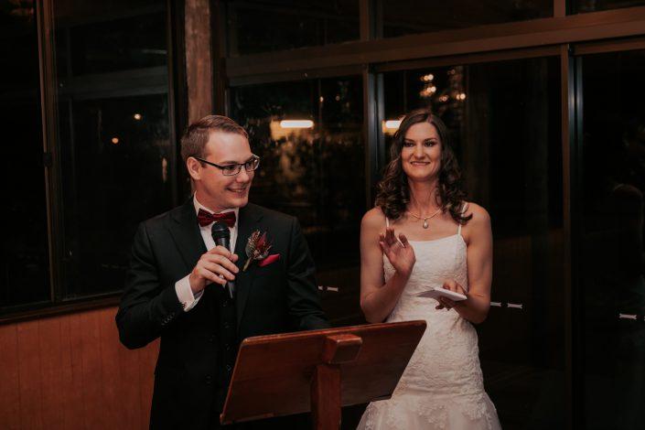 groom making speech at his wedding