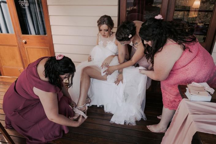 bridal prep for wedding