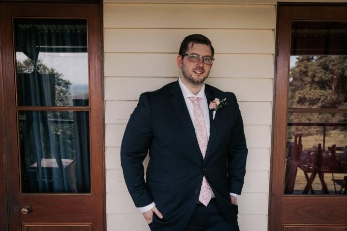 portrait of groom before wedding