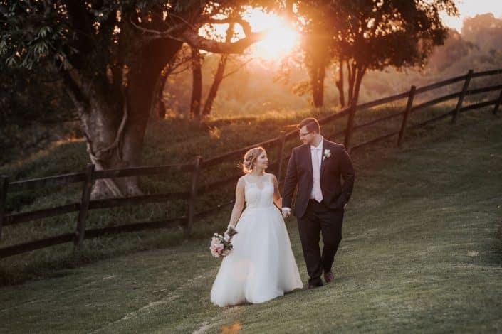 sunflare photo at wedding