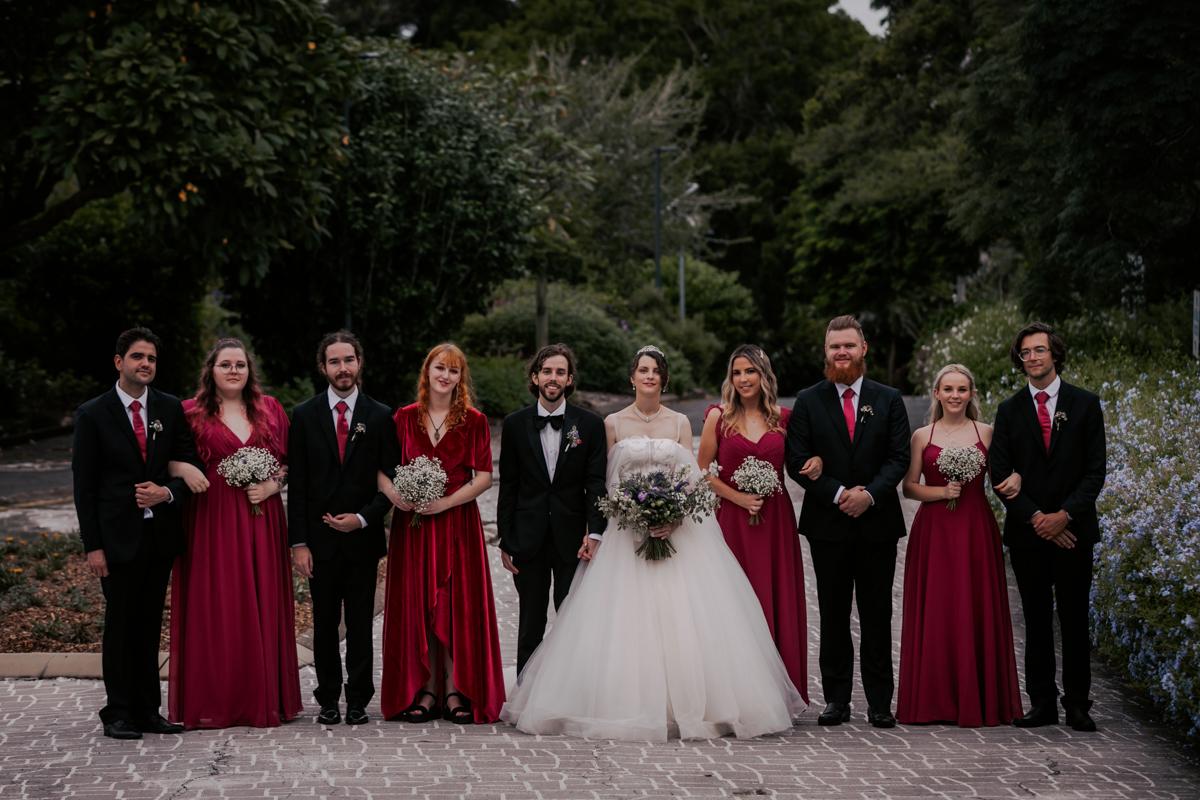 formal bridal party photo at wedding